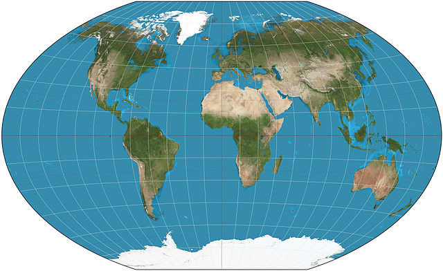 World map projections the winkel tripel projection is now the national geographic societys map of choice a compromise between equirectangular and azimuthal projections gumiabroncs Images