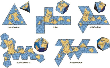 World map projections foldable maps sciox Images