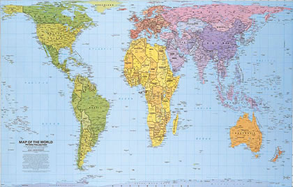 World Map projections
